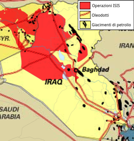 iraq - petrolio e territorio ISIS