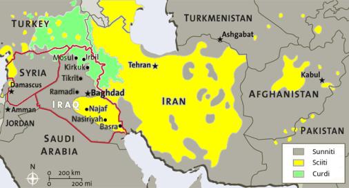 middle east sunniri sciiti curdi