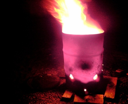 Oil drum brazier